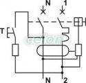 Disjunctor cu protecţie diferenţială, 2P, 2 module, curba B - 6A, 30mA, 3kA, AC KVKB-603 - Tracon, Aparataje, Protectie diferentiala, Disjunctoare cu protecţie diferenţială, Tracon Electric