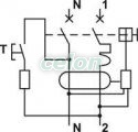 Disjunctor cu protecţie diferenţială, 2P, 2 module, curba B - 16A, 30mA, 3kA, AC KVKB-1603 - Tracon, Aparataje modulare, Protectie diferentiala, Disjunctoare cu protecţie diferenţială, Tracon Electric