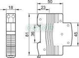 Sonerie modulară - 230V AC, 60dB C60-CSEN - Tracon, Aparataje modulare, Sonerii pe sina, Tracon Electric