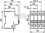 Leválasztó kapcsoló - 3P, 63A TIK3-63 - Tracon, Moduláris készülékek, Sorolható leválasztó kapcsoló, Tracon Electric