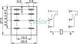 Releu miniaturizat de putere - 12V AC / 2xCO (10A, 230V AC / 28V DC) RL08-12AC - Tracon, Automatizari Industriale, Relee de interfata, masura si control, Relee de interfata, Tracon Electric