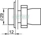 Buton simplu , negru - 1xNO, 3A/240V AC, IP42 NYGBA21 - Tracon, Automatizari Industriale, Butoane, Comutatoare, Lampi, cutii cu butoane si joystickuri, Butoane, selectoare si lampi din metal Ø22, Butoane din metal Ø22, Tracon Electric