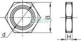 Piuliţe metrice de fixare pentru presetupe - M20x1.5 mm MG-20-A - Tracon, Materiale si Echipamente Electrice, Elemente de conexiune si auxiliare, Presetupe, Piuliţe metrice de fixare, Tracon Electric