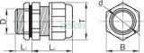 Presetupă metrică, neagră - IP68, 6.5-15.5mm MG-20F - Tracon, Materiale si Echipamente Electrice, Elemente de conexiune si auxiliare, Presetupe, Presetupe metrice MG, Tracon Electric