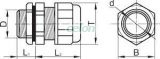 Presetupă metrică, neagră - IP68, 12-18mm MG-25F - Tracon, Materiale si Echipamente Electrice, Elemente de conexiune si auxiliare, Presetupe, Presetupe metrice MG, Tracon Electric