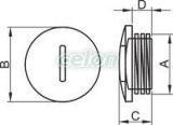 Dop metric - M63x1.5mm TMZ-63 - Tracon, Materiale si Echipamente Electrice, Elemente de conexiune si auxiliare, Presetupe, Dop metric, Tracon Electric