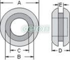 Inel de trecere din cauciuc pentru cablu, cu membrană - D=6mm, d=3mm BVZ0603 - Tracon, Materiale si Echipamente Electrice, Doze electrice, Accesorii pentru doze electrice, Tracon Electric